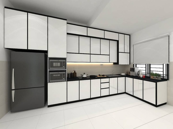 Aluminium Kitchen Cabinet 3D Drawing Bandar Dato Onn