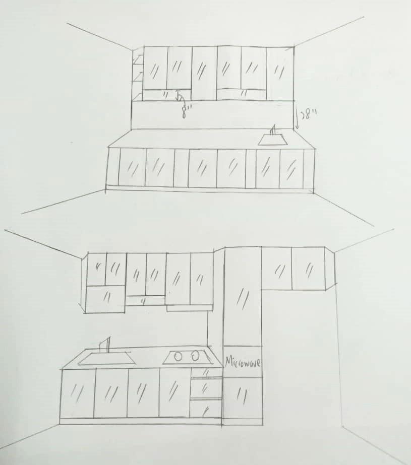 Aluminium Kitchen Cabinet 3D Sketch Taman Skudai Baru