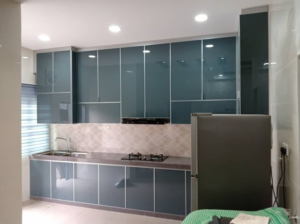 Aluminium Kitchen Cabinet At Taman Mutiara Rini (AFTER)