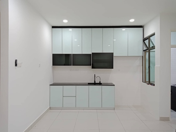 Aluminium Kitchen Cabinet Rini Homes 2, Taman Mutiara Rini (AFTER)