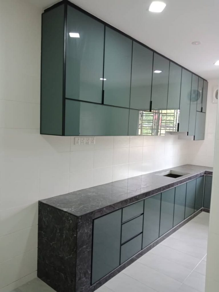 Aluminium Kitchen Cabinet Taman Damansara Aliff (AFTER)