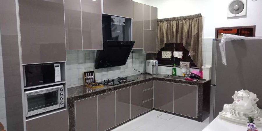 Aluminium Kitchen Cabinet Taman Mutiara Rini (AFTER)