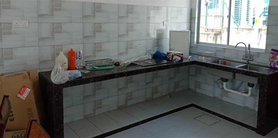 Aluminium Kitchen Cabinet Taman Mutiara Rini (BEFORE)