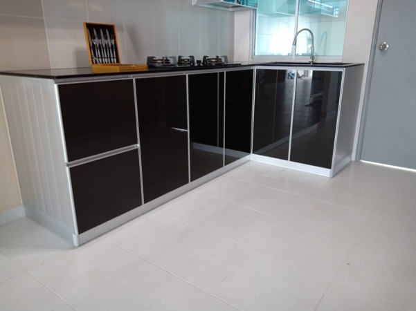 Aluminium Kitchen Cabinet Taman Pulai Mutiara (AFTER)