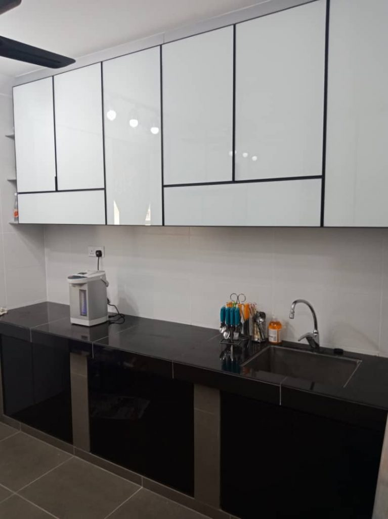 Aluminium Kitchen Cabinet Taman Skudai Baru (AFTER)1