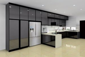 Custom-made BLENO aluminium kitchen