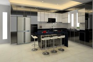 practical and stylish BLENO aluminium kitchen cabinet